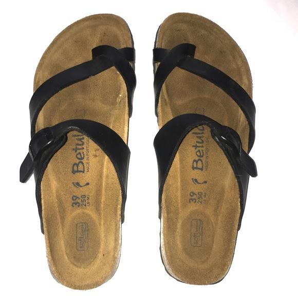 f4cf870f54fe51 Birkenstock Shoes - Birkenstock Betula Black Sandals Size 39